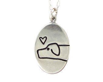 I Love My Dog Necklace - Sterling Silver Dog Pendant - Dog Medallion - Love Me, Love My Dog