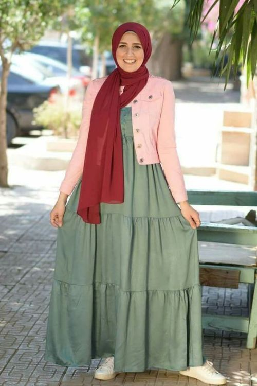 305de35408741 Maxi dresses with hijab styles – Just Trendy Girls | Hijab | Hijab ...