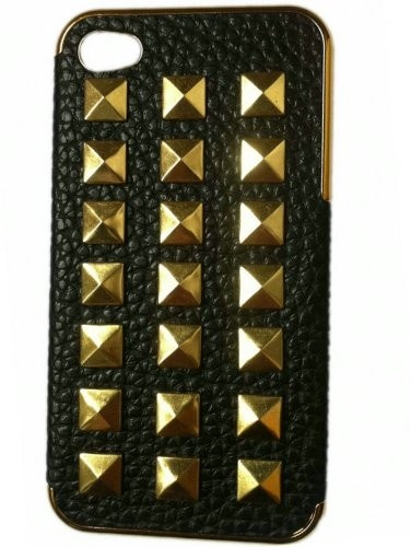 DIY Punk Style iPhone Protective Skin for iPhone 4S 4  5 case Lover Cover with Studs and Spikes Black White: Cell Phones  #studded #iphone #case