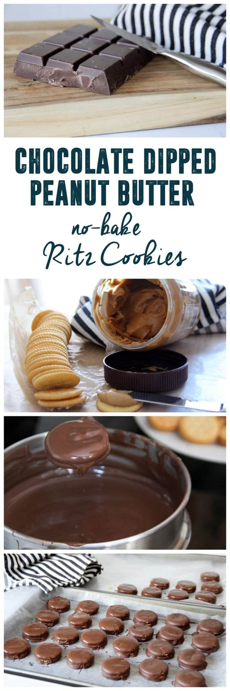 Chocolate Dipped Ritz with Peanut Butter Cookies