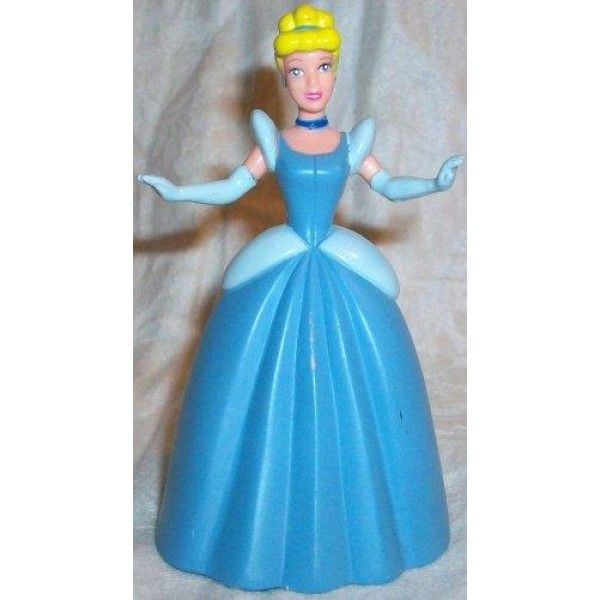 Disney Cinderella, 3 Figure Doll Toy, Cake Topper, Style May Differ  pvc figure  Features : authentic disney item *cake topper *design may differ *party favor give away return gift