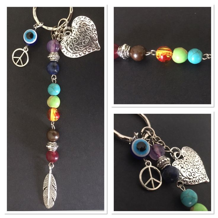 A personal favourite from my Etsy shop https://www.etsy.com/au/listing/502269017/chakra-rainbow-keychain-metal-silver