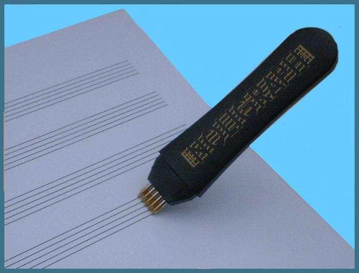 UMA CANETA PARA FAZER PAUTAS   Se tudo o que separa você do Grammy é colocar no papel a música que tem na cabeça, a NOLIGRAPH-staffwriter vai lhe dar uma mãozinha.