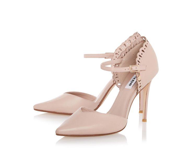 DUNE LADIES - COURTNEY Was £85.00, Now £42.00 Laser Cut Two Part Court Shoe #dunelondon #dune #sale #neutral #nude #heels #shoes #elegant