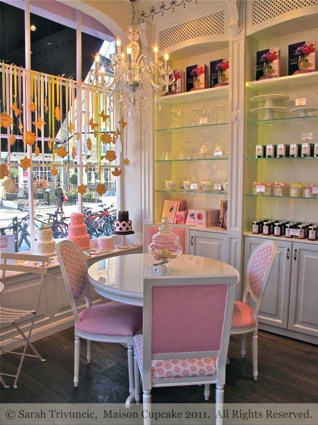 Peggy Porschen Cafe by Sarah Trivuncic Maison Cupcake - love it, but in purple
