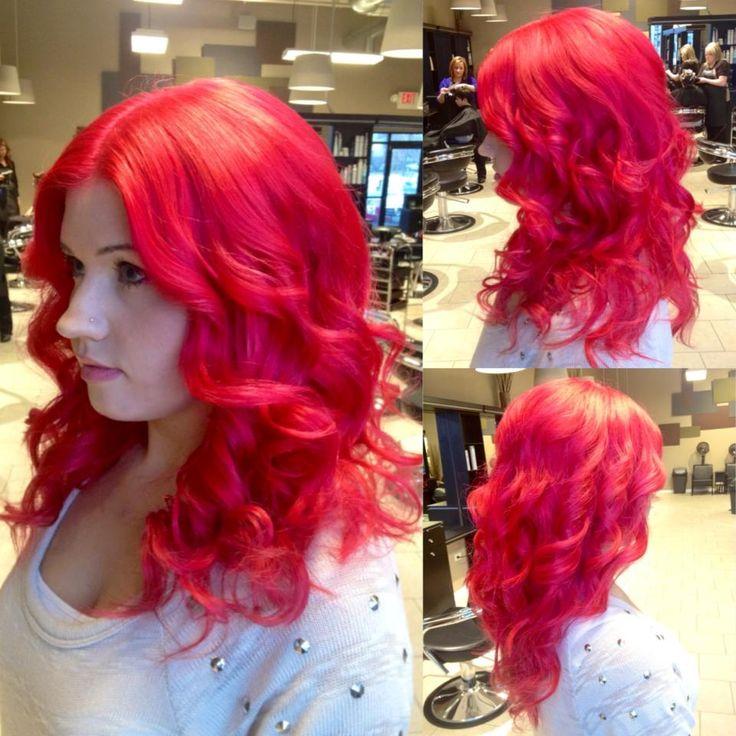 Pravana Vivids Magenta Red Mermaid Hair  by Jacquelyn Marie Hastings at Bii Hair Salon