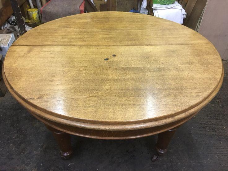 Restoring a antique Victorian oak dining table – Daniel Chapman antique furniture restoration