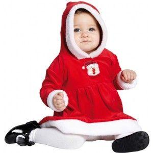 Déguisement bébé mère Noël Little Miss Santa luxe pour bébé fille