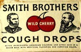 smith brothers cherry cough drops were sooo good.  Ate a lot of these too