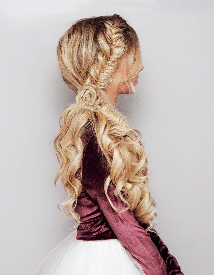 más de 25 ideas increíbles sobre peinados de trenzas de cola de