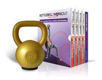 Strakkebuikspieren Kettlebell Workout Mannen 12kg Kettlebell