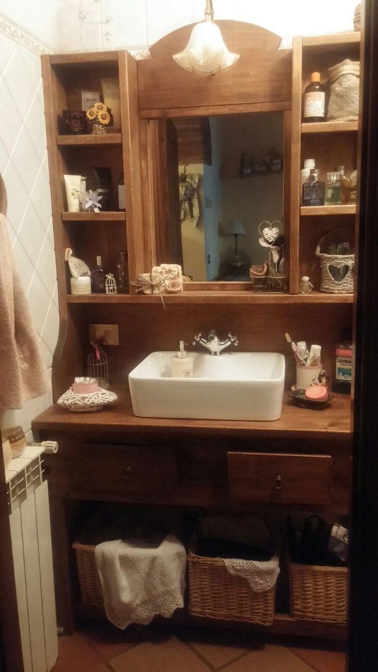 mobile lavandino in pioppo