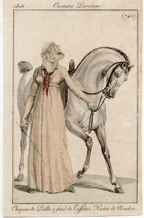 Costume Parisien 1806. Regency fashion plate.