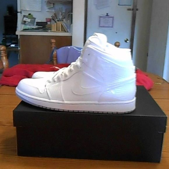 Women's All white Jordan 1s Slight unnoticeable creasing. Jordan Shoes Athletic Shoes