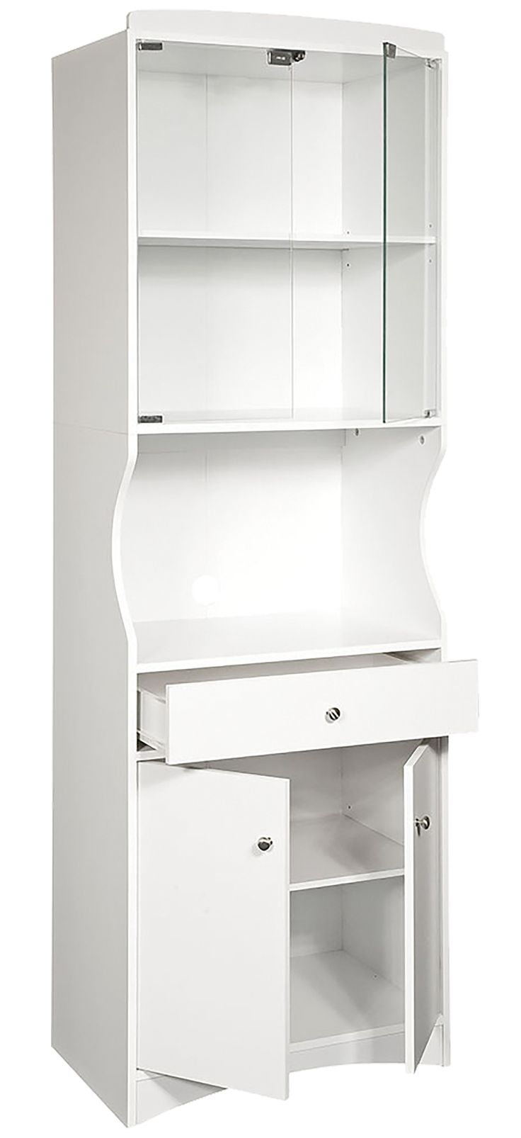 Home Source Industries Kitchen Cache White Microwave Cart Goedekers