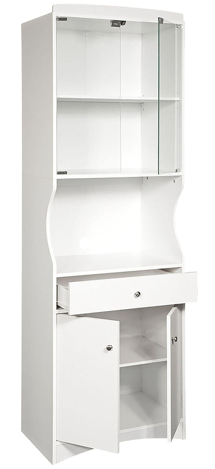 Kitchen Cache White  Microwave Cart