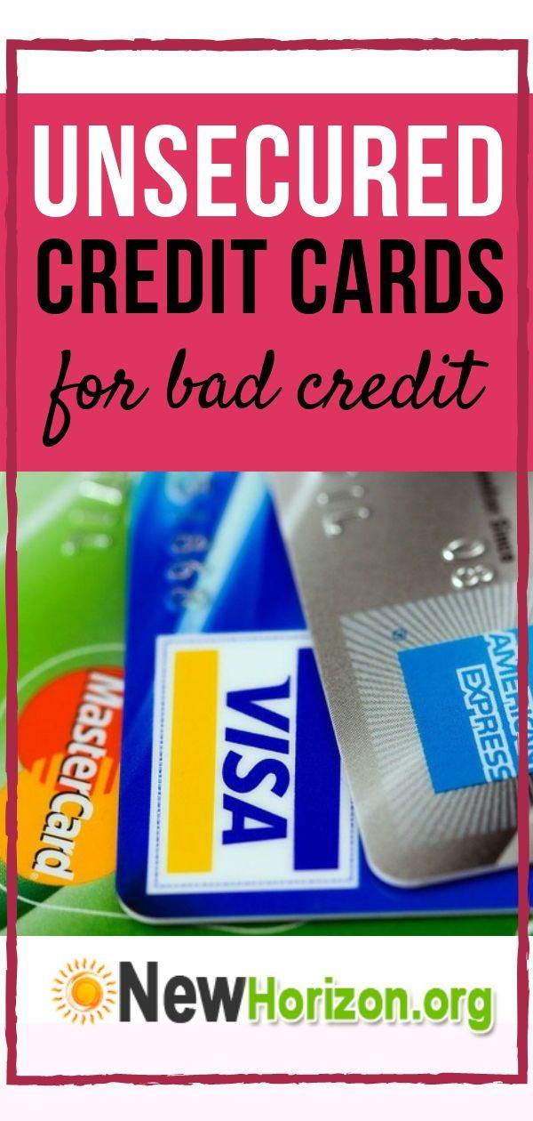 Credit Cards For Bad Credit >> Unsecured Credit Cards Bad No Credit Bankruptcy O K Bad Credit