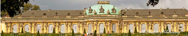 "Sans Souci ( French for ""without care"") the country palace of Fredrick the Great located in Potsdam Germany."