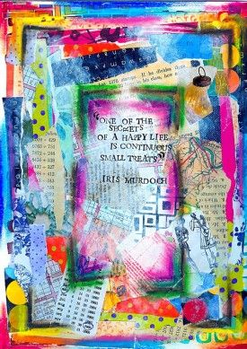 Art Journal: HappyLife - daisy yellow - create explore paint