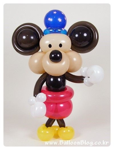 """[미키 마우스, Mickey Mouse] 둥근 """"별 모자""""를 쓴 미키 마우스입니다. 예전에 만들었던 미키 마우스를 ..."""