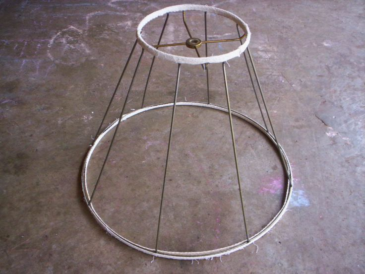 metal lamp shadelamp shade framevintage wire lamp shade framesalvage lamp