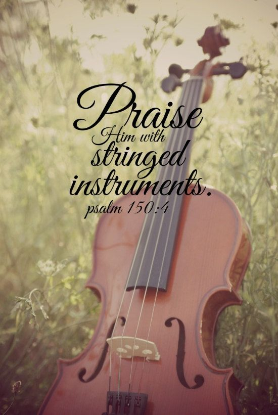 Bible Verse Music Scripture Quote Violin Christian Print