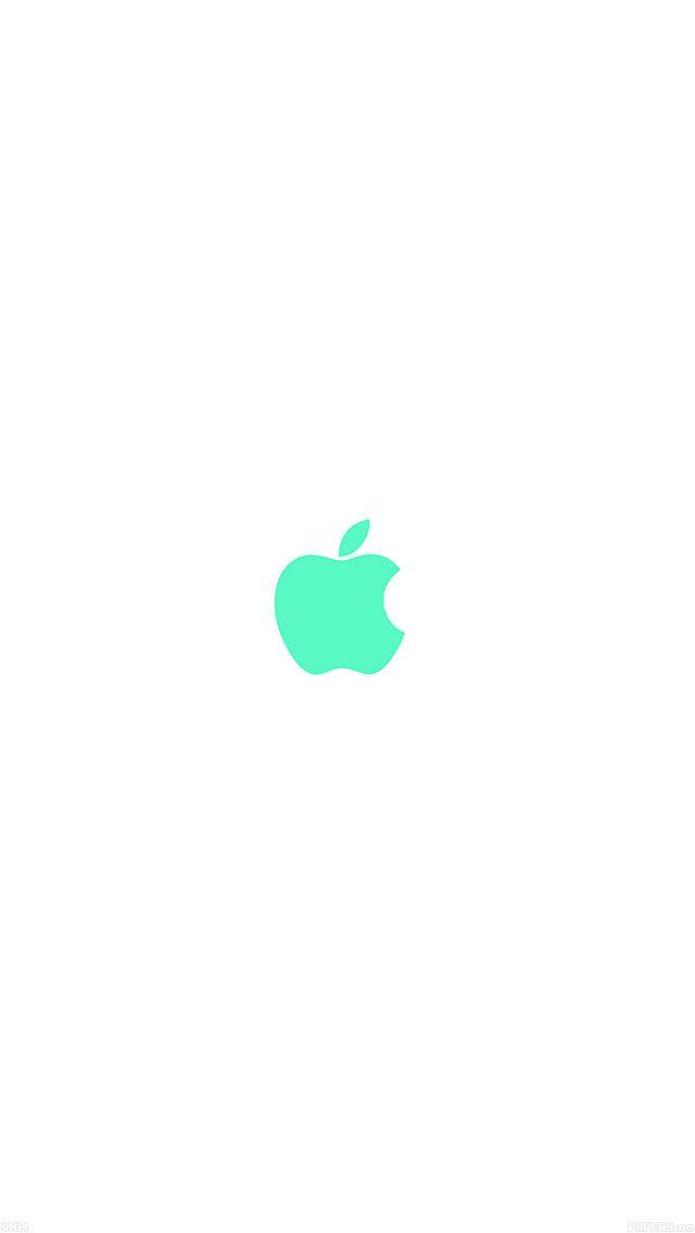 Teal apple logo wallpaper