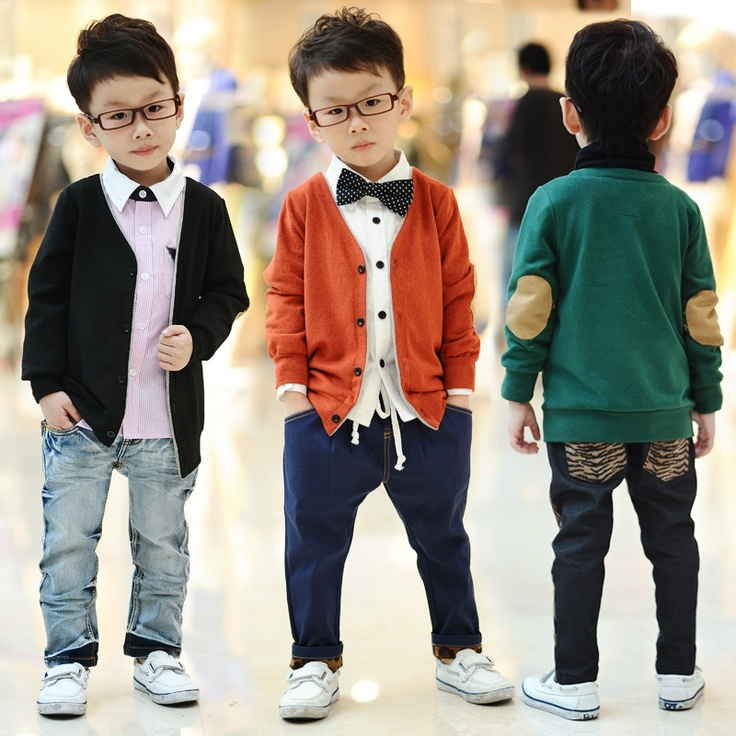 Детские свитера нейтральной однобортный не обычный V-образный вырез 9.74