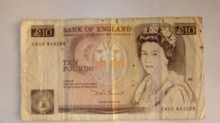 Bank of England TEN POUND NOTE Florence Nightingale £10 CN10 843286 Somerset OLD