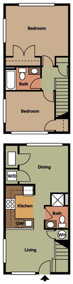 Townhouse  Gardens At Birmingham Apartments - Ewing, NJ 08628 | Apartments for Rent   Beds: 2 Baths: 2 Half Baths: 0 Sq. Ft.: 1000-1050 Rent: $1096 Deposit: $500