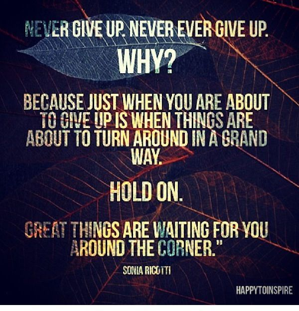 Fitspiration…Don't give up! –   #