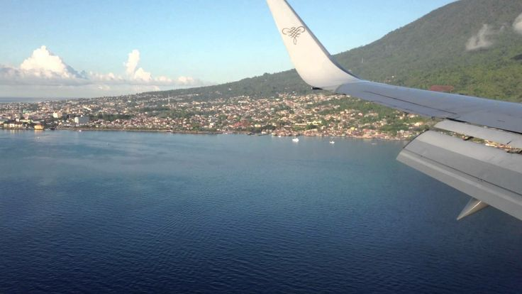 a beautifull view before you landing in Ternate airport (Sultan Babullah)