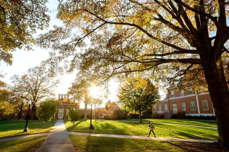 Wake Forest's campus epitomizes the Southern college (photo courtesy of Wake Forest University)