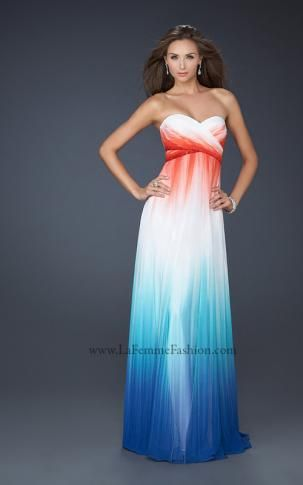 17738 | La Femme Fashion 2013 - La Femme Prom Dresses - Dancing with the Stars...very patriotic I love it!!! :)