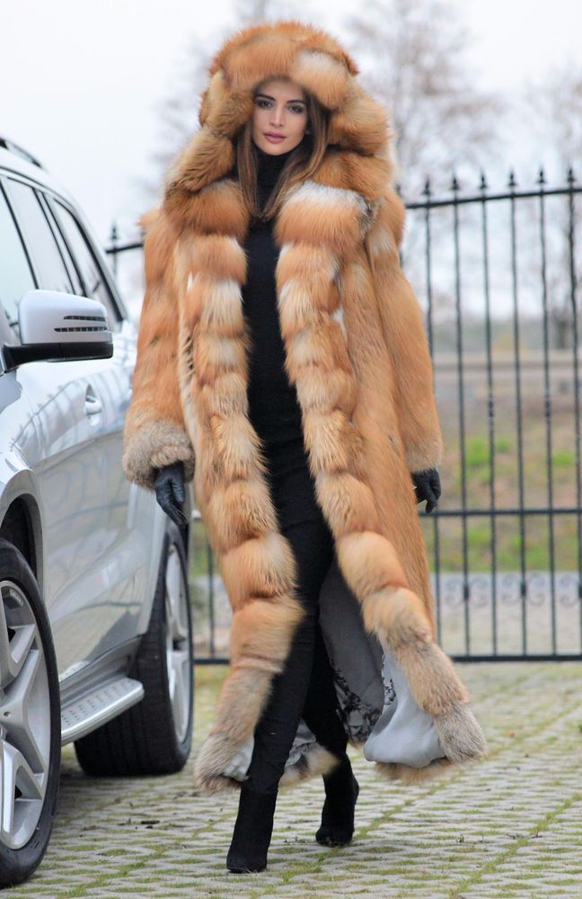 NEW 2016 GOLD FOX LONG FUR COAT HOOD CLAS CHINCHILLA SABLE MINK LYNX SILVER FIRE | Clothes, Shoes & Accessories, Women's Clothing, Coats & Jackets | eBay!