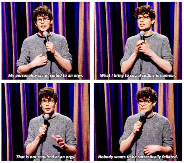 On orgies: | 24 Times Simon Amstell Was Too True And Too Funny