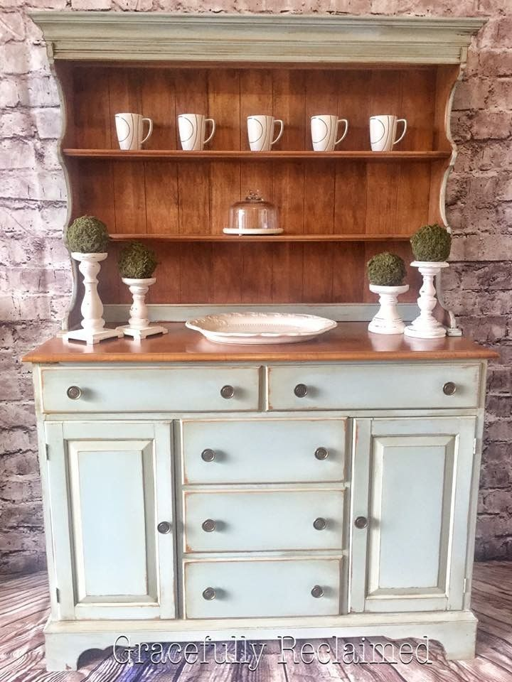 Dark Wax Used To Antique This Gorgeous Dining Room Buffet Hutch Refinished By Gracefully Reclaimed Located In Sidney BC Canada
