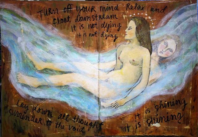 Art journal painting by Jude Wisde: Journals Paintings, Journals Inspiration, Art Journals, Wise Artists, Judy Wise, Http Judywis Blogspot Com, Altered Journals, Visual Journals, Journals Art