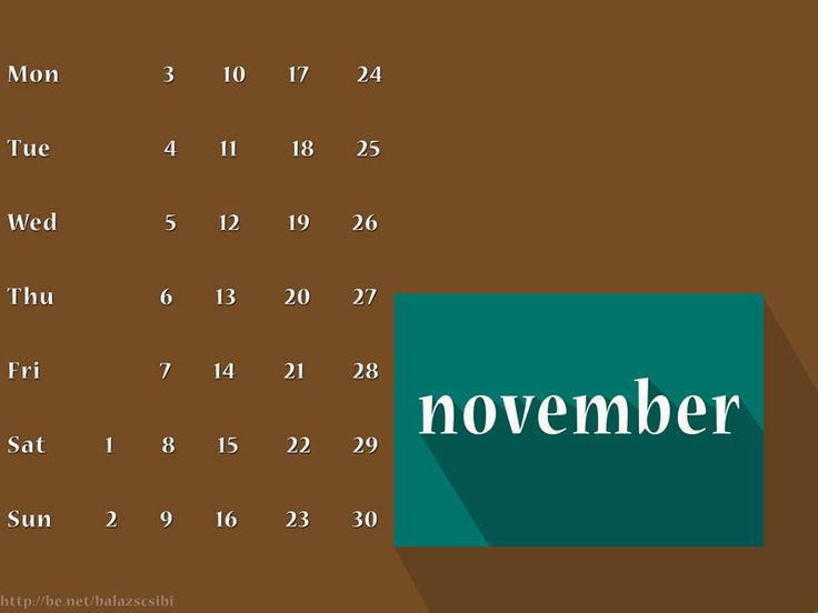 Hello November 2014