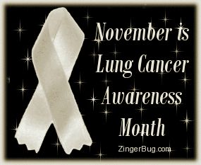 November lung cancer awareness month