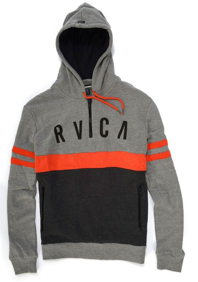 Sweat Capuz Rvca PICKUP Grey Noise