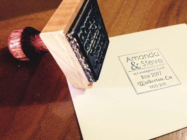 Custom wood block stamp
