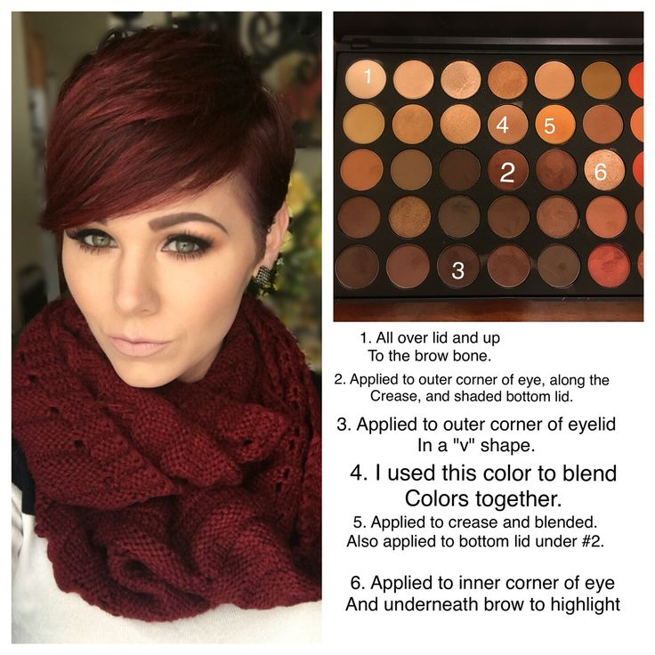 What colors I used for this look using the #Morphe 350 palette