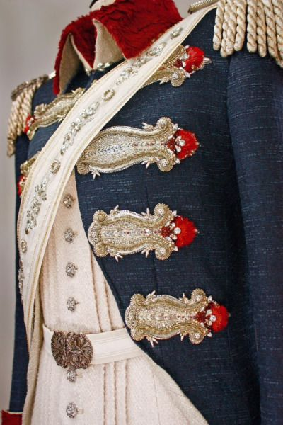 Oscar and Andre 's uniforms from Rose of Versailles