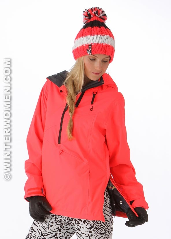 Volcom Women's Chanterelle Pullover (Firecracker) #rad #snowboarding # jackets www.winterwomen - 41 Best Winter Jackets Images On Pinterest