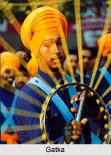 Gatka is a defensive and offensive Sikh martial art. It is being practised for a long time in the state of Punjab by the Sikhs. For more visit the page. #sports #martialarts #indiansports