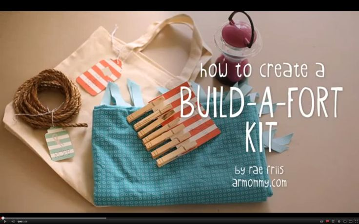 smitten with the build a fort kit tutorial.  happy kids & easy clean up.  great to have at home or give as a gift.  #DIY #kids #gift