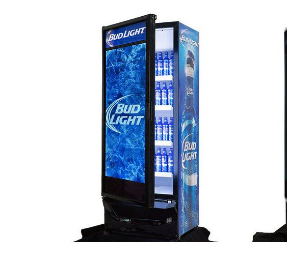 Hey, I found this really awesome Etsy listing at https://www.etsy.com/listing/281279646/rare-budweiser-beer-fridge-with-tv