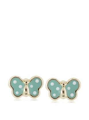 35% OFF Mindy Harris Mint Butterfly Screw Back Earrings