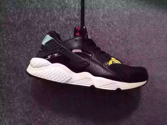 release date: 3d749 d30ba New Sneaker Nike Air Huarache EURO 36-46 Black Flower April 2018 New Arrival
